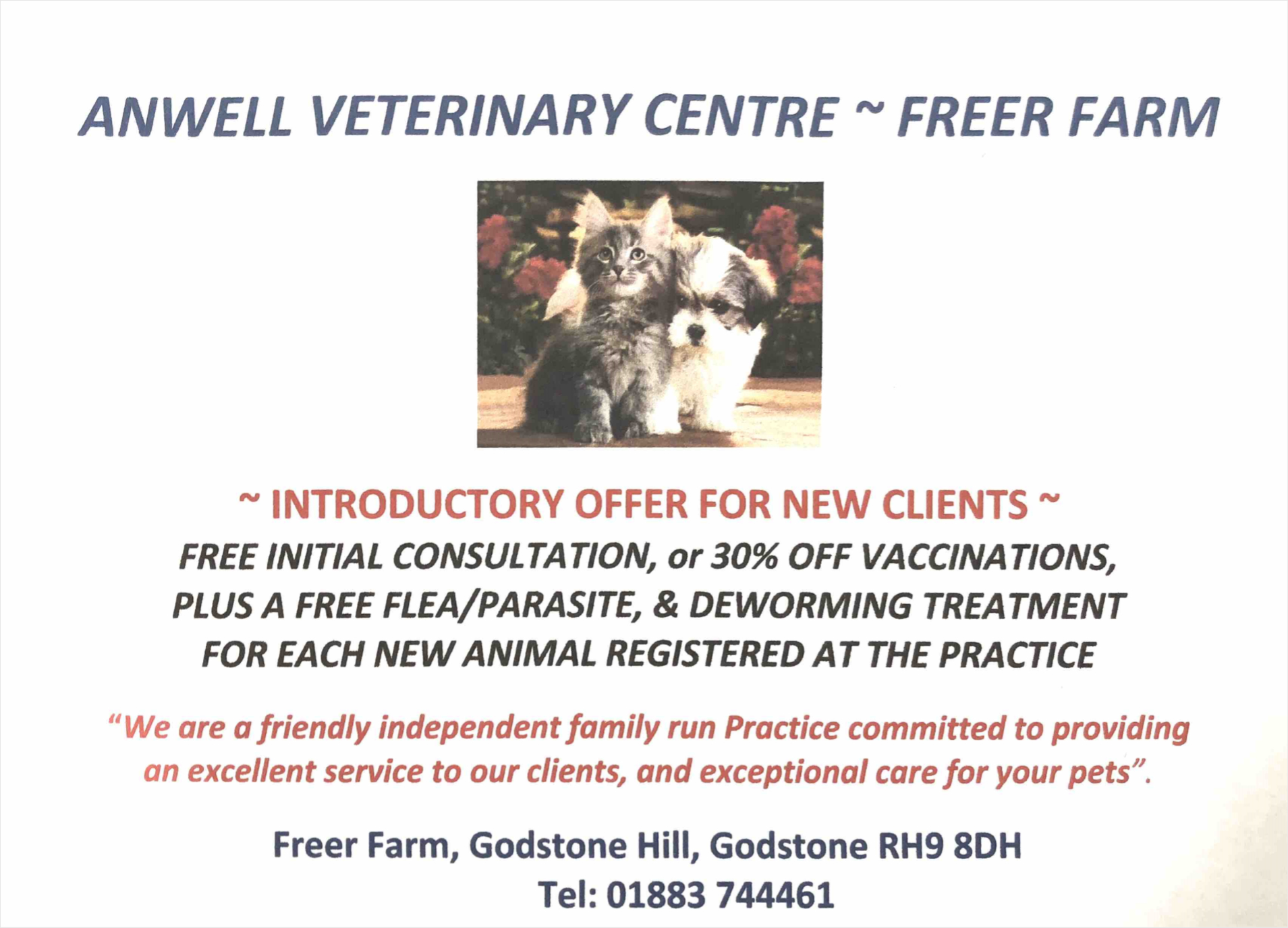 Anwell Veterinary Center Offer